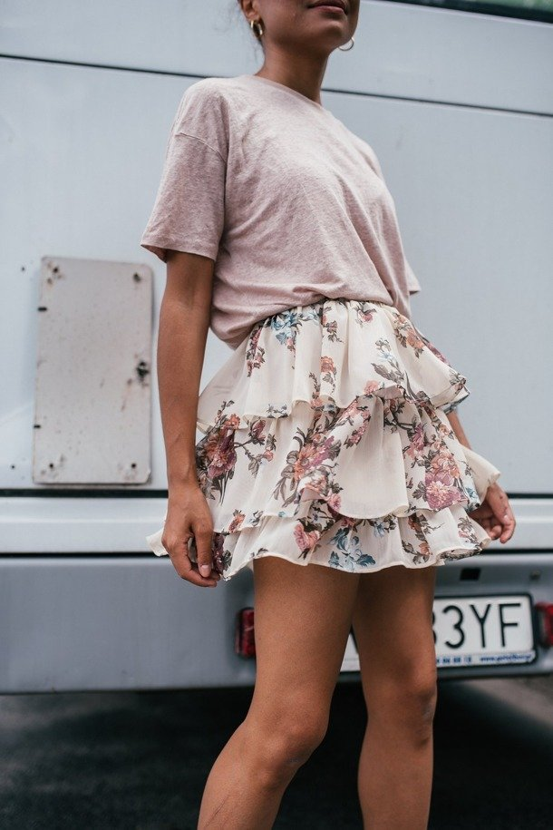 Judith Flowers Skirt